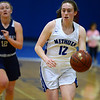 CARL RUSSO/staff photo. Methuen captain, Olivia Barron moves the ball up court. Methuen Rangers defeated Framingham in girls' basketball action Sunday afternoon.  2/9/2020.
