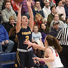 TIM JEAN/Staff photo <br /> <br /> Andover's Shea Krekorian shoots a three pointer over Central's Leah DeLeon during girls basketball Division 1 North quarterfinals.    2/29/20
