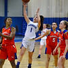 CARL RUSSO/Staff photo Methuen's Brooke Tardugno sails to the basket.  Methuen defeated Somerville 61-47 in girls' basketball action Tuesday night. 2/18/2020