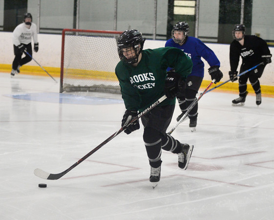 CARL RUSSO/Staff Photo Brooke Rogers of North Andover is a star goal-scorer for the Brooks School, which is set for a playoff run. <br /> 2/27/2020