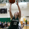 CARL RUSSO/Staff Photo. On February 26, Brooks School defeated St. Mark's 81-25 in girls basketball action during senior night. Kate Coughlin of Reading sails to the hoop.26/2020