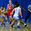 CARL RUSSO/Staff photo Methuen's Yarmilis Vasquez steals the ball out of a Somerville player's hands. Methuen defeated Somerville 61-47 in girls' basketball action Tuesday night. 2/18/20200.