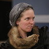 "MIKE SPRINGER/Staff photo<br /> Hanna Burnett of Somerville rehearses a scene in the Spotlight Playhouse's production of ""A Gentleman's Guide to Love and Murder.""<br /> 2/25/2020"