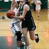 CARL RUSSO/Staff Photo. On February 26, Brooks School defeated St. Mark's 81-25 in girls basketball action during senior night.  Senior Brooke Cordes of North Andover drives to the hoop. 2/26/2020.