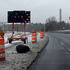 TIM JEAN/Staff photo <br /> <br /> The state DOT has closed one lane of the Ward Hill Connector in Bradford, for eight months to make bridge repairs. <br /> <br /> The lane being closed is the left westbound one carrying traffic toward Interstate 495. It must be closed so state workers can begin repairing the connector bridge which passes over I-495, they said. Concrete on that bridge is crumbling.   2/6/20