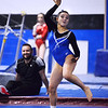 CARL RUSSO/Staff photo Methuen junior, Molly Beeley does a little dance during her floor routine. <br /> <br /> The Merrimack Valley Conference Gymnastic League Meet was held Thursday night on February 6, at A2 Gym and Cheer in Salem NH. 2/6/2020