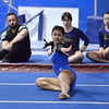CARL RUSSO/Staff photo  Methuen Ranger's senior captain, Adiamis Ramos strikes a pose during her floor performance at the Merrimack Valley Conference Gymnastic League Meet on February 6, at A2 Gym and Cheer in Salem NH. <br /> <br /> The Rangers captured the MVC Division 2 championship. Ramos also captured the Senior Gymnast of The Year title.  2/6/2020