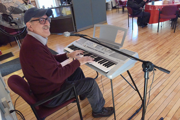 TIM JEAN/Staff photo <br /> <br /> Italian Melodies with Claudio, who plays the piano and sings weekly at the Middleton Senior Center.      1/30/20