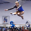 CARL RUSSO/Staff photo Methuen junior, Molly Beeley  leaps high off the beam during the competition.<br /> <br /> The Merrimack Valley Conference Gymnastic League Meet was held Thursday night on February 6, at A2 Gym and Cheer in Salem NH. 2/6/2020