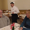 TIM JEAN/Staff photo <br /> <br /> Santos Mejia, of Salem, clears the table of customers Steve and Peggy Curewitz, of Peabody as they enjoy a lunch in the student-run Beacon Cafe at North Shore Community College's Middleton campus.    1/30/20