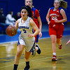 CARL RUSSO/Staff photo Methuen's Stephanie    <br /> Tardugno races towards the basket on a break away.<br /> Methuen defeated Somerville 61-47 in girls' basketball action Tuesday night. 2/18/2020..