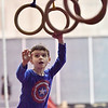 TIM JEAN/Staff photo <br /> <br /> Tommy Simpson, 6, of Plaistow, reaches for the rings as he makes his way through the Ultimate Ninja obstacle course at the Plaistow Community YMCA.     2/22/20