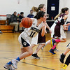 CARL RUSSO/Staff photo PMA's Eva Fabino races up court. Presentation of Mary Academy defeated Felllowship Christian Academy 51-43 in girls' basketball action Tuesday afternoon. 2/04/2020