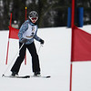 CARL RUSSO/staff photo. Haverhill's Shannon Keiser competes in the race.<br /> <br /> Area ski teams from Andover, Haverhill and North Andover competed in North Shore Ski League meet on Monday, February 10 at Bradford Ski. 2/10/2020.