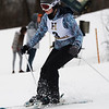 CARL RUSSO/staff photo. Haverhill's Shannon Keiser competes in the race.<br /> <br /> Ski teams from Andover, Haverhill and North Andover competed in North Shore Ski League meet on Monday, February 10 at Bradford Ski. 2/10/2020.