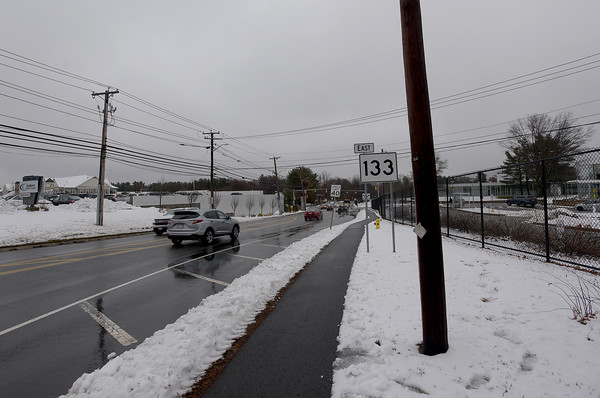 TIM JEAN/Staff photo <br /> <br /> Utility pole number 591-84 in front of the IRS on Lowell St., Andover. AT&T wants to install a small cell wireless devise on the pole to bring 5G cell service to the area.      2/13/20