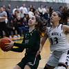 CARL RUSSO/Staff Photo. On February 26, Brooks School defeated St. Mark's 81-25 in girls basketball action during senior night. Emma Riley of Lynnfield drives to the hoop. 2/26/2020