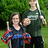 CARL RUSSO/Staff photo The 2019-2020 Bishop Sports Award recipients are: Methuen high senior, Claudia Crowe and Pentucket Regional high senior, Peter Cleary. <br /> <br /> Crowe is a top athlete in field hockey, ice hockey and sotfball. Cleary is a top athlete in, football, basketball and baseball. 7/01//2020