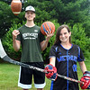 CARL RUSSO/Staff photo The 2019-2020 Bishop Sports Award recipients are: Methuen high senior, Claudia Crowe and Pentucket Regional high senior, Peter Cleary. <br /> <br /> Crowe is a top athlete in field hockey, ice hockey and sotfball. Cleary is a top athlete in, football, basketball and baseball. 7/01/2020