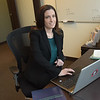 TIM JEAN/Staff photo<br /> <br /> Alyson Basso, Managing Partners and Financial Advisors at the Hayden Financial Group in Middleton.     5/1/20