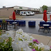 TIM JEAN/Staff photo<br /> <br /> Outside seating at Eli's Place, Breakfast and Lunch Cafe on Merrimack Street Lawrence. The owners Eli Haddad and his wife Marcia are disappointed with Columbia Gas two years after the gas disaster impacted their business. They received a letter from the gas company saying they will not be paying for anything more than the cost of food the restaurant lost on the first few days of the disaster.   9/2/20