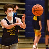CARL RUSSO/staff photo Windham's sophomore guard, Bryan Desmarais. Windham boys basketball team has started practicing for the 2021 season. 1/04/2021
