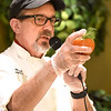BRYAN EATON/Staff photo. Director of Culinary Services at Atria Marland Place,  Jim Arhelger shows off the garnish of fennel fronds on his lobster-stuffed tomatoes.