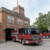 TIM JEAN/Staff photo<br /> <br /> New fire trucks the City of Haverhill recently purchased outside at the Water Street fire station in Haverhill.  7/1/21
