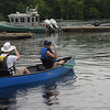 TIM JEAN/Staff photo<br /> <br /> Clarke Esler, left, and Ann Simpson, both of Amesbury make their way out on the water during a paddling and trash removal event on the banks of the Merrimack River. The event was organized by the Merrimack River Watershed Council and the Greater Lawrence Community Boating Program that offered participants a chance to clean up while on the Merrimack River around the Abe Bashara Boathouse in Lawrence.   7/17/21