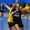 CARL RUSSO/Staff photo North Andover's Hannah Martin drives to the hoop. North Andover defeated Haverhill 52-34 in Girls Basketball Summer League played at Methuen high school. 7/21/2021