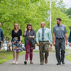 AMANDA SABGA/Staff photo<br /> <br /> Sanborn Regional High School senior Abigail Parrott, 17, center, walks with teachers and administrators who have helped her in her time at Sanborn. From left: Assistant Principal Steve Krzyzanowski, English teacher Ashley Harbel, Abigail Parrott, Principal Brian Stack, Social Studies teacher Brian Hurley and English teacher Evan Czyzowski<br /> <br /> 6/14/18