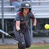 CARL RUSSO/Staff photo. Whittier's senior player, Jacklyn Verrettte lays down the bunt. Whittier Tech was defeated 10-2 by North Reading in Div. 2 North softball semifinals. 6/13/2018