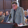 TIM JEAN/Staff photo<br /> <br /> <br /> Charles Lyons speaks during the public hearing on the 2019 budget in the Great Hall of Methuen City Hall.   6/12/18