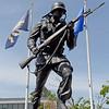 TIM JEAN/Staff photo<br /> <br /> The Korean War Veterans Memorial in GAR Park, Haverhill. The local Korean War Veterans, not the city, pay for all the maintenance and upkeep of the memorial.     6/2/21