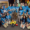 CARL RUSSO/Staff photo. The Lawrence High School Gearheadz Robotics Team gather around the prototype of their robot. Front row from left: Tatyana Say, Keysha Rosado, Charvady Hak, holding the championship trophy, Nayeli Potter and Patsy Salazar. Back row: Ruth Cruz, Keiddy Curiel, Abel Sostre, Monica Sim, holding the championship plaque, Cristian Welcome, Pedro Lantiqua, Omar Pena, David Vinas, Anthony Calderon and Anthony Estrada.  On March 18th. The Lawrence High School Gearheadz Robotics Team attended the first Robotics North Shore District Competition in Reading. Along with our two alliance partners, we won the competition for the very first time.  We are in our 14th season and this is a huge accomplishment. Linette Pichardo is the co-advisor for the LHS Robotics Team.  3/27/2018
