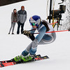 CARL RUSSO/staff photo. Andover's Samantha Daly tucks her poles under her arms for speed as she approaches the finish line. <br /> <br /> Area ski teams from Andover, Haverhill and North Andover competed in North Shore Ski League meet on Monday at Bradford Ski. 2/10/2020