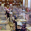 TIM JEAN/Staff photo<br /> <br /> Mrs. Skolski's kindergarten classroom cheer as they celebrate 100 days of being in school at Sacred Hearts Early Childhood Education Center. Students at the ECC dressed as though they were 100 years old and took part in 100th day activities to celebrate 100 days of being in school.    3/2/21