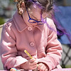 TIM JEAN/Staff photo<br /> <br /> Summer McClellan, 7, of Salem, NH., paints a rock in the Kindness Rocks Project area set up near the Rail Trail during Derby Day in downtown Derry, NH.   5/1/21