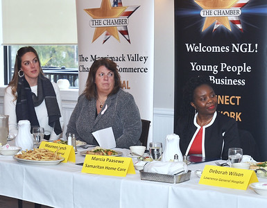 Merrimack Valley Chamber of Commerce held their annual Women in Business Conference at Michael's Function Hall Monday afternoon.