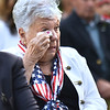 CARL RUSSO/Staff photo Linda Gambino Baxter of Haverhill wipes away a tear during the ceremony. Her brother, Michael Gambino is one of the 13 men from  Haverhill who died during the Viet Nam conflict. She had the honor of reading their names during the ceremony.<br /> <br /> Vietnam Memorial Commission held the formal dedication of the Vietnam Veterans' Memorial at Millbrook Park on Saturday night, September 11. <br /> <br /> The Commission members chose this day to honor Vietnam veterans and those who died in the war, to recognize the 13 members of the military who were killed in Afghanistan recently, and to remember those who perished in the 911 terrorist attacks.<br /> 9/11/2021