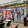 TIM JEAN/Staff photo<br /> <br /> The large 9/11 commemorative mural on the wall facing the Ladder 4 firehouse on Broadway, Lawrence.  9/11/21