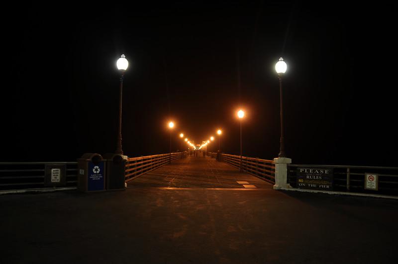 Oceanside Ca Pier at night