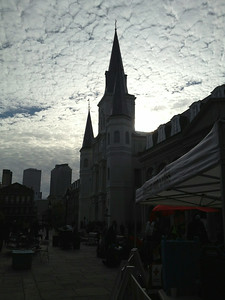 Clouds over Jackson Square- New Orleans
