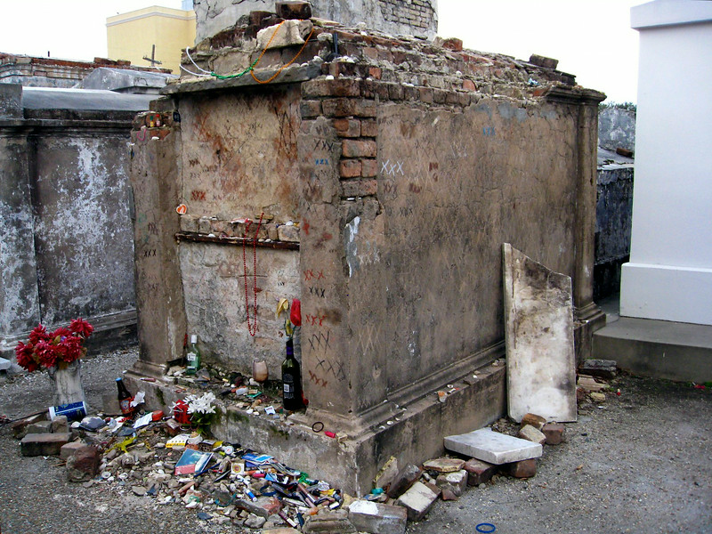 Voodoo Queen Tomb- St Louis Cemetery- New Orleans