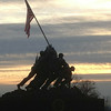 Marine Corps Monument at Sunset