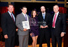 Gio Restaurant and Wine Bar honored as La Mesa Small Business of the Year. L-R:  Mike Cully, Gabe Giordano, Tracy Giordano, Nolan Cooper and Roger Roberts