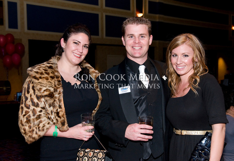 Laurie Ohnesorgen from Gio, David Moran, winner of Ambassador of the Year, and Kelsey Luce