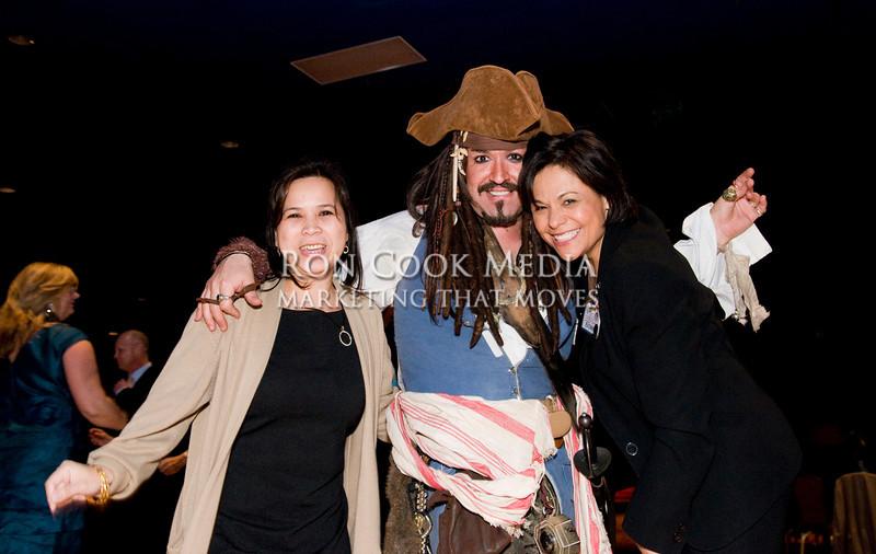 Carmie Holguin, Sam the Pirate, and Evonne Darby