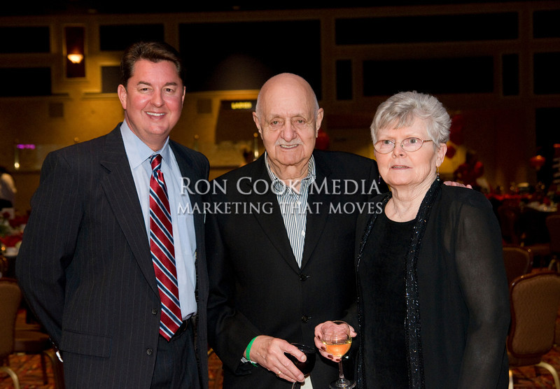 CEO Mike Cully with Mike and Mary Justo
