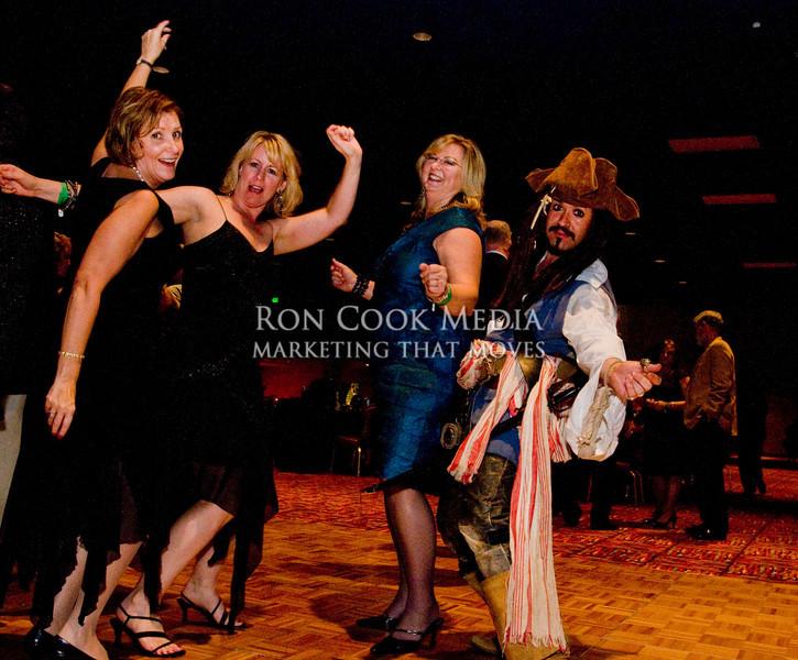 Ramona Bommer, Karen Cook, Leah McIvor and Sam the Pirate